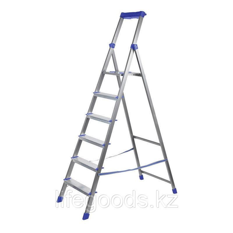 Лестница - стремянка алюминиевая комбинированная 6 ступени Ника СКА6
