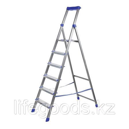 Лестница - стремянка алюминиевая комбинированная 6 ступени Ника СКА6, фото 2