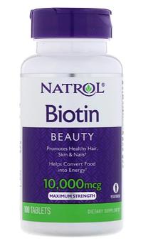 Natrol, Биотин, максимальное действие, 10 000 мкг, 100 таблеток