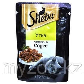 Влажный корм для кошек Шеба Плежер ломтики в соусе утка 85 г