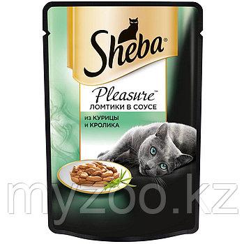 Влажный корм для кошек Шеба Плежер из курицы и кролика 85 г