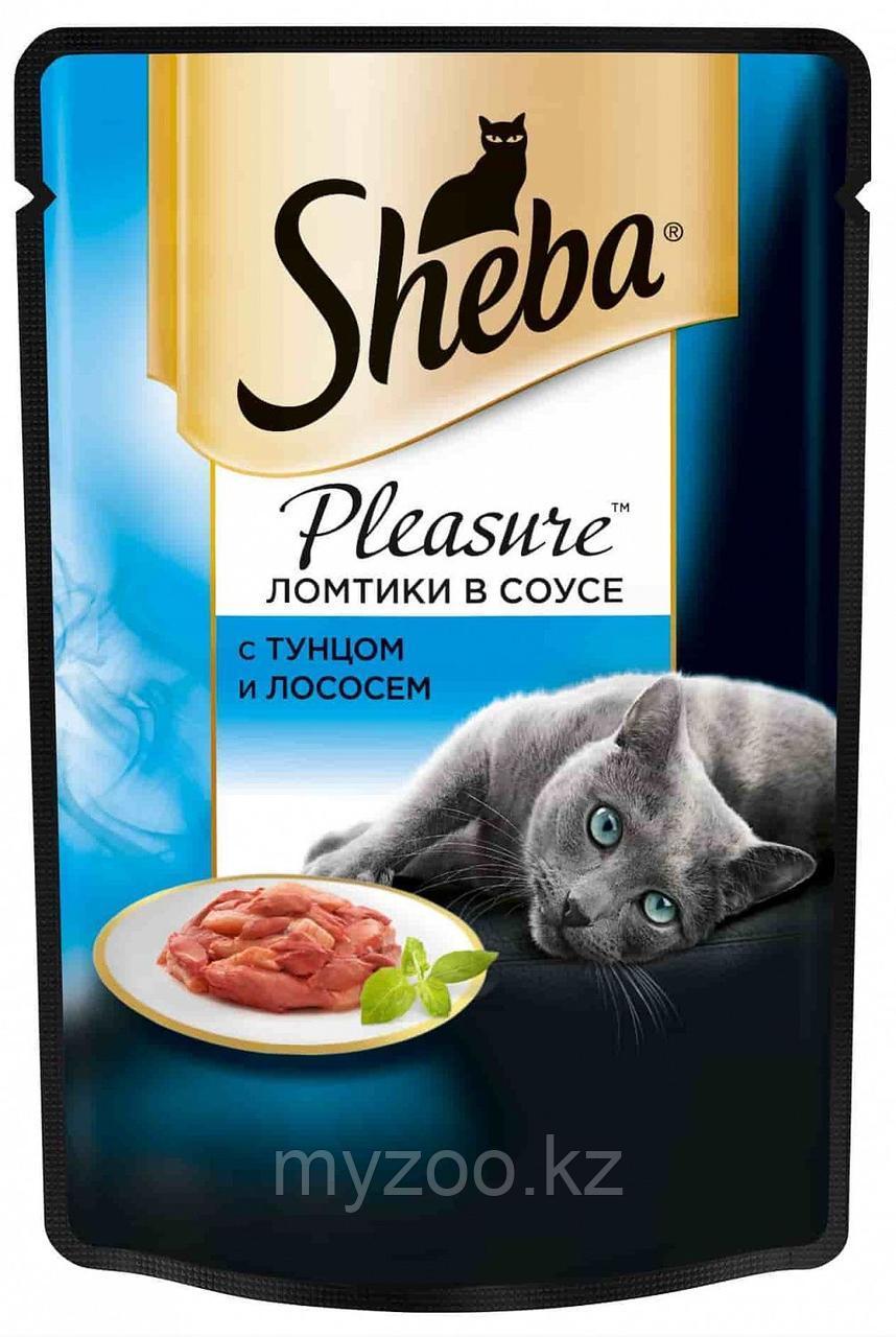 Влажный корм для кошек Шеба Плежер с тунцом и лососем 85 г