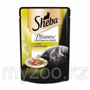 Влажный корм для кошек Шеба Плежер из утки и цыпленка 85 г