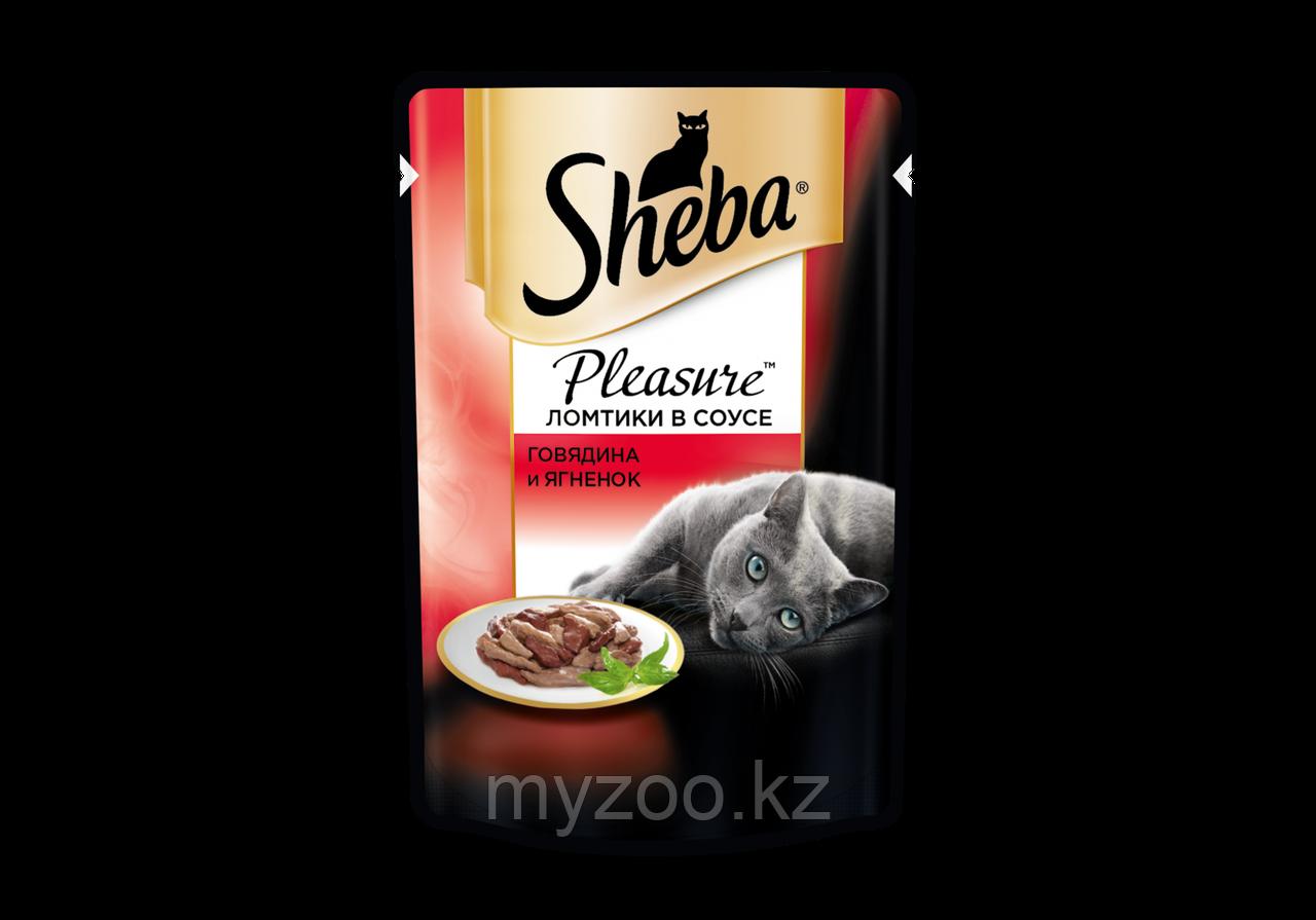 Влажный корм для кошек Шеба Плежер из говядины и ягненка 85 г