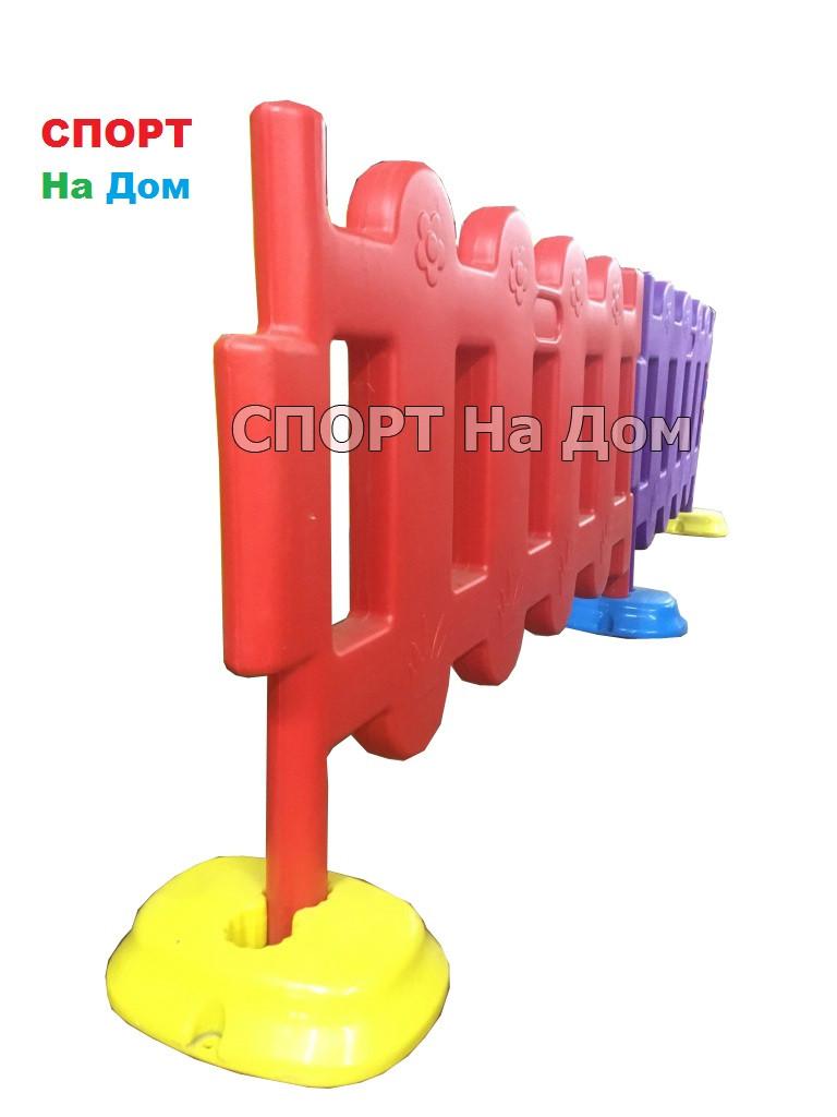 Пластиковый оградительный забор для детских площадок