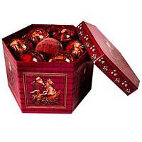 Набор елочных шаров с рисунком «Дед мороз на коне», 14 предметов, фото 1