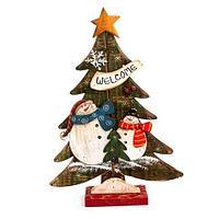 Елка сувенирная ручной работы из дерева KL-11187