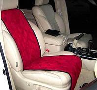 Чехлы-накидки для автомобильного сидения Алькантара (Бордовый), фото 1