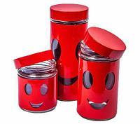 """Набор банок для сыпучих продуктов """"Олимпик"""" H1205, фото 1"""