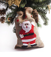 Мешочек для подарков с аппликацией «Дед Мороз»