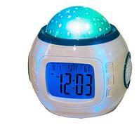 Ночник-проектор звездного неба с часами, термометром и музыкой Music Starry Sky