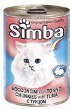 SIMBA CANS, Симба кусочки с тунцом для кошек, банка 415 гр.