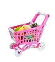 Игрушечная продуктовая тележка Shopping Cart BOHUI {83 предмета} (Голубой)