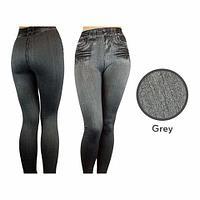 Джеггинсы корректирующие утепленные Slim'nLift Caresse Jeans [серые] (XL)