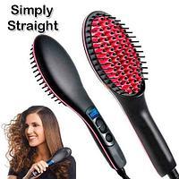 Расческа-выпрямитель волос Simplly Straight с LCD-экраном, фото 1