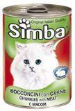 SIMBA CANS, Симба кусочки с телятиной, олениной и дичью для кошек, банка 415 гр.