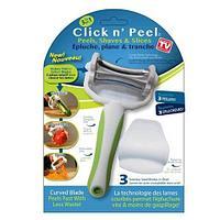 Овощечистка Click 'n Peel с тремя лезвиями