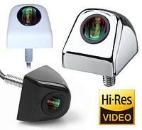 Видеокамера заднего обзора высокого разрешения универсальная E366 (Хром)