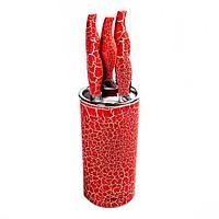 Набор металлокерамических ножей на подставке EVERRICH ER-0142 / ER-0119 (Красный), фото 1