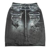 Юбка с утягивающим эффектом Trim 'N' Slim Skirt (L-XL / Черный), фото 1