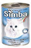 SIMBA CANS, Симба кусочки с бараниной для кошек, банка 415 гр..