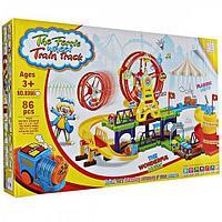 Железная дорога - конструктор с чудо-колесом The Ferris Whell Train Track (86 деталей)