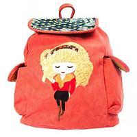 Рюкзак-сумка с аппликацией DANDANTEBU (Оранжевый), фото 1