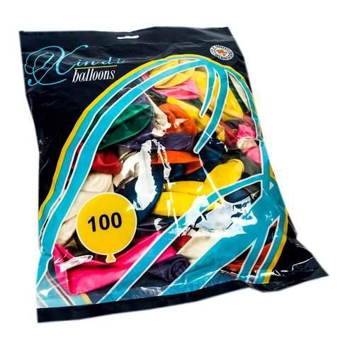 Комплект воздушных шариков Xindi balloons [100 шт., 10 цветов] - фото 1