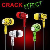Наушники-гарнитура беспроводные Bluetooth Crack Effect MS-808 (Зеленый), фото 1