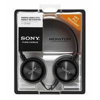Стереонаушники мониторные SONY MDR-ZX300 (Черный)