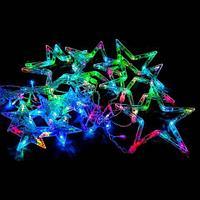 Занавес световой LED с акриловыми фигурами «Звездное свечение» 2.3x1м (Белый)