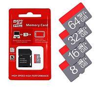 Карта памяти microSD с адаптером (8Gb Class 10)