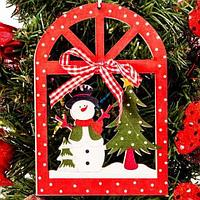 Набор декоративных новогодних подвесок «Рождественская ночь» [2 шт] КХ-209