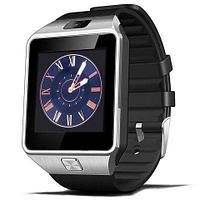 Умные часы [Smart Watch] с SIM-картой и камерой DZ09 (Серебряный с чёрным)