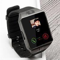 Умные часы [Smart Watch] с SIM-картой и камерой DZ09 (Титановый с черным)