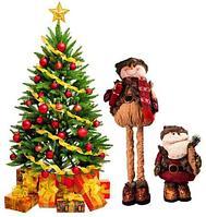 Новогодние персонажи с телескопическими ножками [до 78 см высотой] (Снеговик)