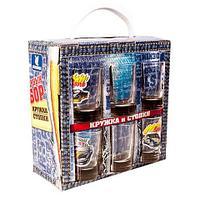 Подарочный набор стопок с кружкой «Настольные гонки», фото 1
