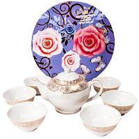 """Чайный сервиз на 6 персон [7 предметов] (Узор """"Ромбики""""), фото 1"""