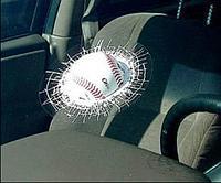 Наклейка силиконовая 3D на автомобиль «Мяч в стекле»