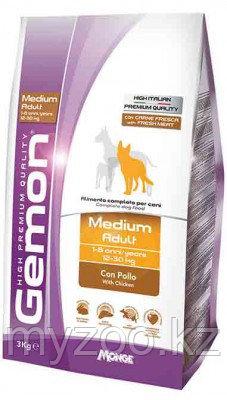 Gemon Dog Medium Adult, сухой корм с курицей для взрослых собак, уп. 3кг.