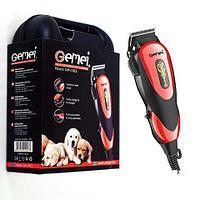 Машинка для стрижки домашних животных с набором аксессуаров Gemei GM-1023 в чемоданчике