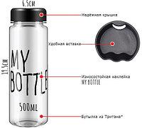 Бутылочка для воды My Bottle 500мл в мешочке (Черный)