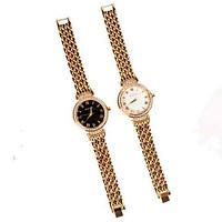Часы наручные женские реплика MICHAEL KORS MK-1069 (Золото, черный циферблат), фото 1