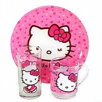 Набор детской посуды Luminarc Hello Kitty H5483 [3 предмета]