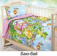 Комплект детского постельного белья от Текс-Дизайн (Аист (розовый))