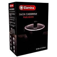 Кастрюля-казан с мраморным покрытием Elamina [26 см] PLAS-82343