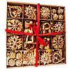 Набор новогодних украшений ручной работы из соломы, 56 предметов