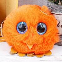Брелок из натурального меха «Совёнок» (Оранжевый)