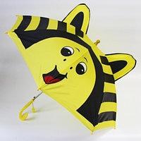 """Зонт-трость детский 3D со свистком и ушками (""""Жёлтая пчёлка"""")"""