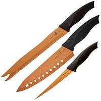 Набор из трёх ножей с антиналипающим покрытием COPPER CHEF